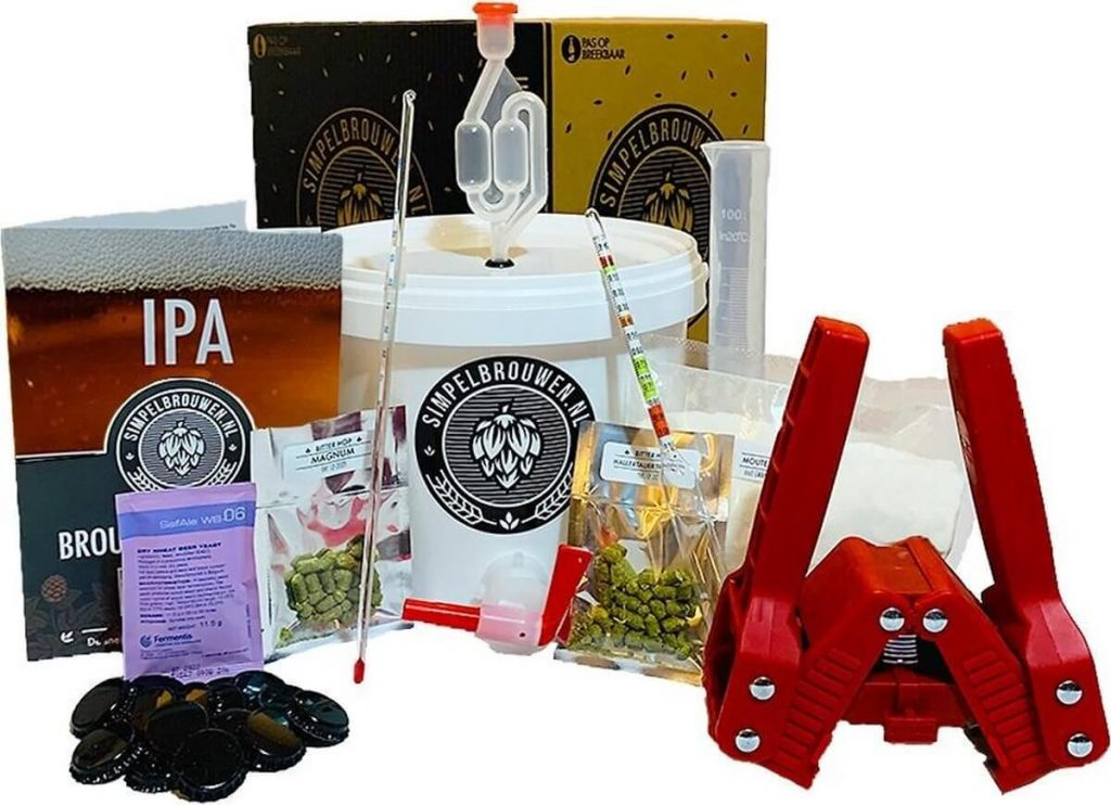Simpelbrouwen bierbrouwpakket uitgebreid