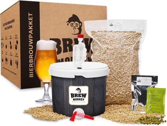 top 5 beste Bierbrouwpakketten voor thuis - Brew Monkey starterspakket basis