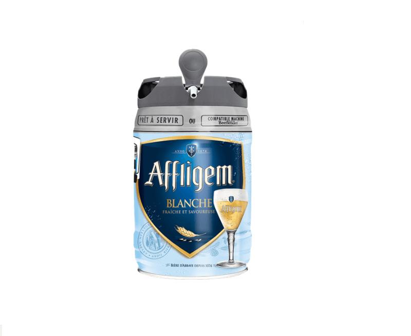 5 liter biervaten - Affliglem Blanché
