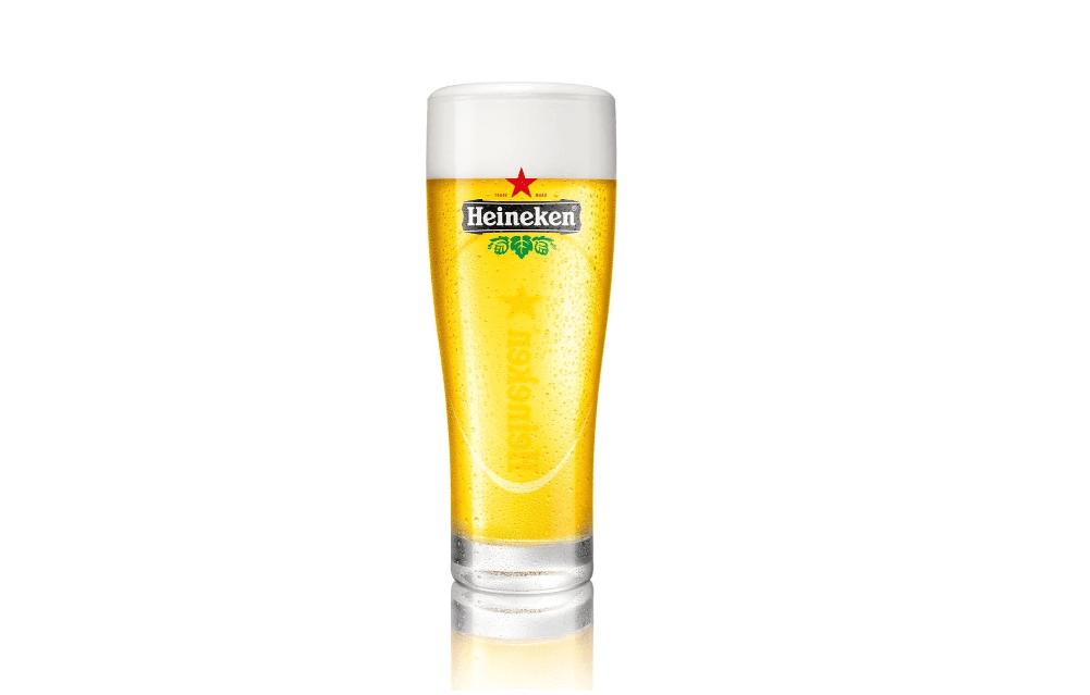 Heineken bierglazen elipse 25cl - Biertje in Heineken glas