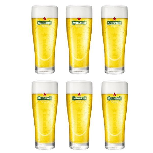 Heineken bierglazen elipse 6 x 25 cl