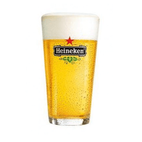 Heineken bierglazen - vaasje 25cl